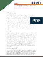 Transition - Six Factors Determining Success or Failure