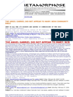 New Community Bible 5_ the Angel Gabriel Did Not Appear to the Virgin Mary