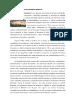 Aspectos Característicos da psicologia Comunitária
