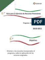 Guia Para El Ejercicio de Recursos Financieros 2010 2011