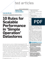 10 Rules for Scalable Performance in Simple Operation Data Stores