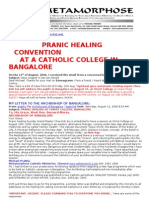 Pranic Healing Convention at a Catholic College in Bangalore
