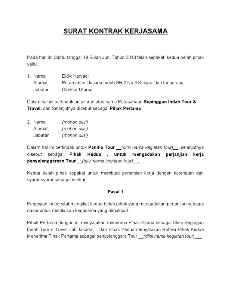 surat perjanjian kontrak new 2