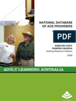 National Database of Adult and Community Education Providers