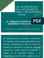 ANÁLISIS DE SENTENCIAS DCHO DEL TRAB Y SS