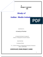 Study of Indian Media Industry-pushparaj Shetty (Mms Marketing)