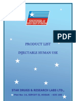 Injection Product List H
