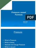 Pressure Vessel Formula