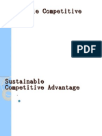 Sustainable Competitive Adantage