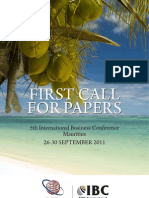 Call for Papers 2011 Mauritius