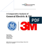 Comparative Analysis of General Electric and 3M - Final