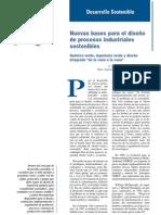 NUEVAS BASES PARA EL DISEÑO DE PROCESOS INDUSTRIALES SOSTENIBLES (GARCÍA, PÉREZ Y COCERO-IQ)