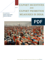 Export Incentives by Indian Government