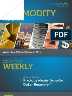 Bullion Commodity Reports for the Week (13th - 17th June '11)
