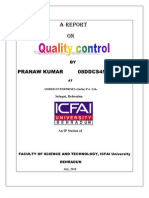 Project on Quality Control in Pharmaceutical Company