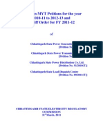 Chattisgarh CSERC MYT Tariff Order for State Power Companies 2011-12