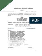 Rajasthan Transmission Tariff Order for FY-11