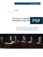 The Future of Capitalism-Sustainable Energy