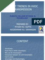 Recent Trends in Hvdc Transmission