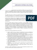 Listas de Control de Acceso y Vlan-cap Upla-2009