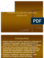Hospital Equipment Planning &Selectionpmrpnt