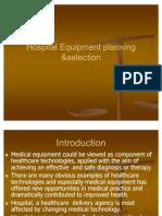 Hospital Equipment Planning &Selectionpmrpnt