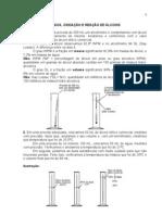 Propriedades Físicas, Oxidação e Reação de Álcoois