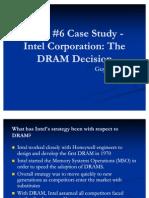 Intel DRAM Case Study Presentation