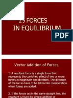 2.9 Forces in Equilibrium