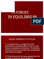 2.9 Forces in Equilibrium