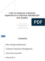 How to Measure Customer Experience to Improve Satisfaction and Loyalty
