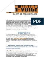 CARTA DE APRESENTAÇÃO  PROJETO IGREJAS 2