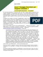 4 - Argento Colloidale - Quale è il Dosaggio Giornaliero Sicuro