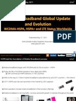 GSA Mobile Broadband Global Update May 2011