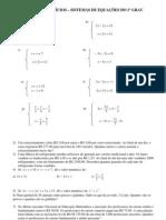 Lista de Exer Sistema de Equacoes