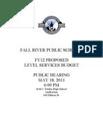 FY12 School Department Budget Fall River