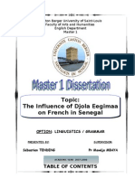 The Influence of Djola Eegima'a on French in Senegal by Sébastien TENDENG
