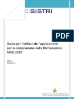 Guida Applicazione Dichiarazione Mud 2010