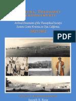 Krotona, Theosophy and Krishnamurti 1927-1931