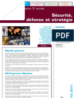 master strategie defense securité
