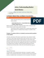 Marketing Metrics - Understanding Market Share and Related Metrics