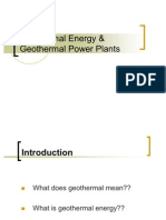 Geothermal Energy and Geothermal Power Plants