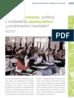 Centros escolares, política y ciudadanía democrática