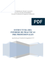 Estructura de Informe PP