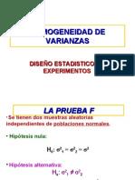 HOMOGENEIDAD DE VARIANZAS
