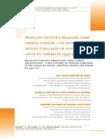 PPRODUÇÃO CIENTÍFICA BRASILEIRA SOBRE