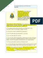 definición y clasificación de los proyectos