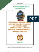 PERFIL ELECTRIFICACIÓN LA COLINA 2010 - ACTUALIZADO