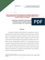 Caracterización de materiales polímeros mediante la utilización de la microespectroscopia vibracional (raman, ftir y ft-raman)