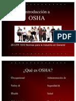 Introduccion a OSHA